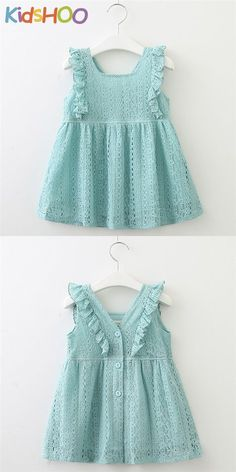 Toddler Girls Ruffles Hollow Out Lace Dress Toddler Girl Outfits dress Girls Hollow Lace ruffles Toddler Kids Dress Wear, Little Girl Outfits, Kids Outfits Girls, Toddler Girl Dresses, Toddler Girls, Lace Dress For Kids, Girls Dresses Sewing, Toddler Outfits, Kids Frocks Design