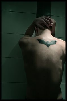 Batman Symbol Tattoo this is what i want<3