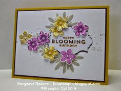 Fun Stampin' with Margaret!  Petite Petals, Flower Patch sets; Apothecary Accents Framelits, CCMC312.
