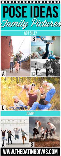 Silly Poses for Family Pictures