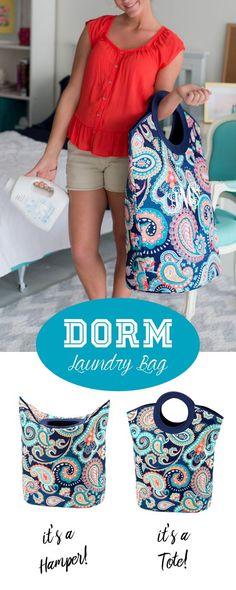Personalized mega laundry totes are a must-have back to school accessory for dorm rooms and apartments. These neat, functional soft-sided tote bags are easy-to-carry and can be folded down to create a laundry hamper or held upright to be used as a tote bag. Personalize your bag with a monogram for the perfect college gift idea. These laundry bags can be ordered here: http://www.tippytoad.com/personalized-mega-laundry-tote-bags.asp