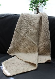 This pattern is for a baby blanket made out of swatches. Size can be adjusted (I only used 9 swatches). Website describe how to make the blanket.