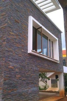 Natural slate culture stone/ slate stacked stone/ wall tiles for exterior, View outdoor stone wall tile, JAI STONE Product Details from JAI STONE EXPORT Front Wall Tiles Design, Home Tiles Design, Wall Texture Design, Stone Wall Design, Stone Cladding Exterior, Natural Stone Cladding, Stone Exterior Houses, Brick Cladding, Wall Cladding Tiles