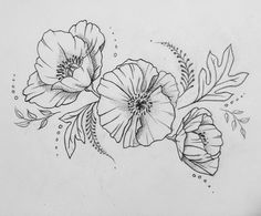 Like style of poppies. poppy tattoo poppies tattoo, tattoo d Poppy Tattoo Sleeve, Best Sleeve Tattoos, Flower Tattoo On Side, Flower Tattoo Shoulder, Flower Tattoo Meanings, Flower Tattoo Designs, Tattoo Drawings, Body Art Tattoos, Neck Tattoos