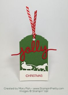Simple & fresh ideas for handcrafted holiday gift tags using Stampin' Up! Sleigh Ride Edgelits Dies. Daily papercrafting tips & samples.