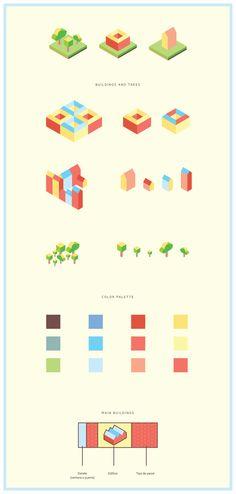 La Latina · Madrid map on @Behance #graphicdesign www.valiantdesigners.com