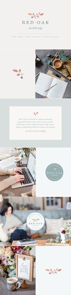 Meg Summerfield Creative Studio | Red Oak Weddings Brand Design | Photo Cred: Laura Lee Photograhy and Cinnamon Wolfe Photography