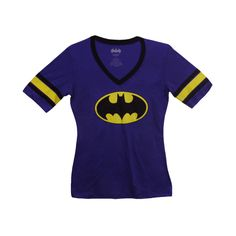 Womens Batman Tee, Purple Journeys Shoes