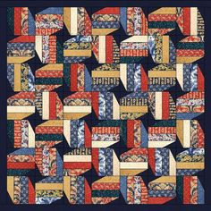 Honor - Free Quilt Pattern - Jelly Roll - Moda - Polka Dots and Paisleys - Military - Red White and Blue - Army - Marine - Navy - Coast Guard - Air Force