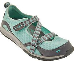 Ryka As Is Adjustable Mesh Mary Jane Sneakers - Kailee