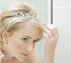 short hair with tiara... Wedding headband tiara