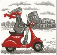 "ru / mollimy - Альбом ""A Roma. Cross Stitch Love, Cross Stitch Flowers, Modern Cross Stitch, Counted Cross Stitch Patterns, Cross Stitch Designs, Cross Stitch Embroidery, Embroidery Patterns, Image Illusion, Stitches Wow"