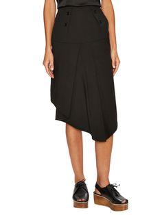 Anson Stretch Draped Asymmetrical Skirt