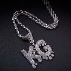 Letter Necklace, Pendant Necklace, Bubble Letters, Letter Pendants, Rose Gold Chain, Custom Name Necklace, Beautiful Necklaces, Delicate Necklaces, Chains For Men