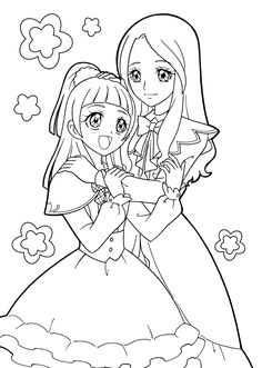 Maho Girls Precure #Precure Printable Adult Coloring Pages, Coloring Pages For Girls, Cute Coloring Pages, Manga Coloring Book, Coloring Books, Pretty Cure, Colorful Drawings, Colorful Pictures, Sailor Moon Coloring Pages