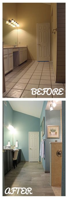 Master Bedroom Remodel Before And After Wood Look Tile Floors