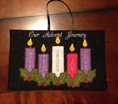 Items similar to In The Hoop (ITH) Advent Banner With Christmas Candle on Etsy Religious Bulletin Boards, Christian Bulletin Boards, Church Bulletin Boards, Easy Christmas Decorations, Christmas Crafts For Kids, Christmas Projects, Simple Christmas, Advent Candles, Sunday School Crafts