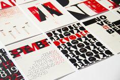 2015 – Typography Calendar on Behance