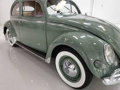 1957 Volkswagen Oval Window Beetle for sale Original Interior - Daniel Schmitt & Co. Volkswagen, Green Beetle, Green Cars, Beetle For Sale, Vw Bugs, Chevrolet Bel Air, Collector Cars, Ocean City, Vw Beetles