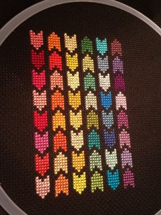 I went through a big geometric cross stitch kit a few years back. Most of them I would do without a pattern and I loved how little I had to think about it, it was so repetitive. I have a box with d...