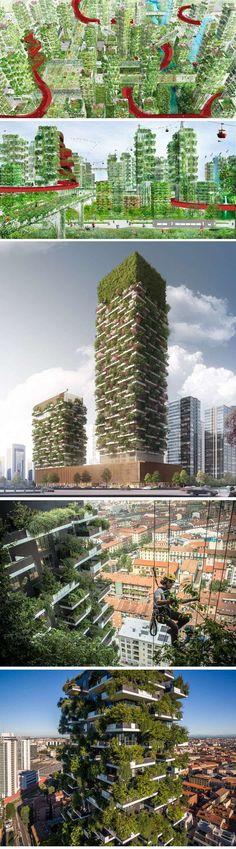 """China planeja construir a primeira """"Cidade Floresta"""" do mundo para lutar contra a poluição stylo urbano #arquitetura #arquiteturaverde #sustentabilidade #natureza #árvores #jardins"""