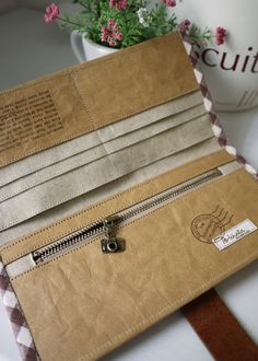 artchala handmade: Washable Kraft Paper Long Wallet •