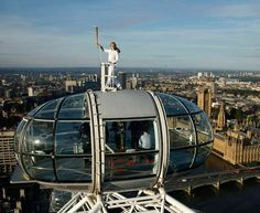 Torcia olimpica, vista mozzafiato sul London Eye