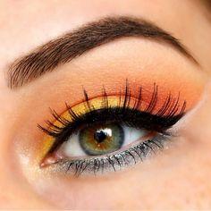 Brighten your day with a splash of color!☀️Here is a gorgeous look by using Makeup Geek's eyeshadows Lemon Drop, Mango Tango & Chickadee. Makeup Goals, Makeup Inspo, Makeup Inspiration, Makeup Tips, Beauty Makeup, Makeup Ideas, Makeup Geek Cosmetics, Waterline Eye Liner, Summer Eyes