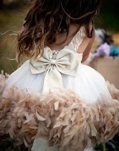 Beige feathers e1352984780725 5 Completely Off the Hook Flower Girl Dresses