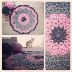 #Crochet doily rugs with t-shirt yarn | Crochet in Paternoster