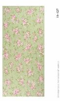 Cotton Loop Collection Bouquet Blossom Sage Green Pink Floral Area Rug