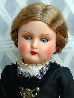 1930's--Early GURA German Antique Composition DOLL Glass Sleep Eyes, FULLY Jointed, ALL Original With Hang TAG c.1930's!