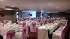 BEST WESTERN PLUS Pinewood on Wilmslow, a pink and white wedding in our Tatton Suite  #weddingvenue #pink&whitewedding #chaircovers #tattonsuite