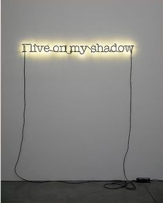 "Glenn Ligon, ""Untitled (I live on my shadow),"" 2009, Neon and paint, Courtesy of Luhring Augustine"