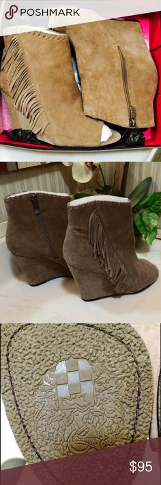 NWT Vince Camuto booties with fringes⚠️✅ booties with fringes ✅‼️. NEW!! Vince Camuto Shoes Ankle Boots & Booties