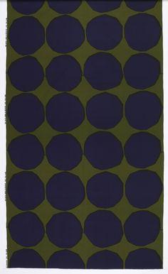 alwaysalwaysalwaysthesea: Marimekko screen printed textile, designed by Maija Isola, 1956. (source: Cooper-Hewitt)
