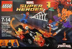 Lego Marvel Super Heroes 76058 Spider-Man Ghost Rider Team-up vs Hobgoblin New Ghost Rider Bike, Spiderman, Lego Boxes, Lego Ninjago Movie, Hobgoblin, Lego Marvel Super Heroes, Lego News, Custom Lego, Boxer