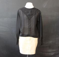 sheer black handkerchief collar s m by cheapopulance on Etsy, $25.00