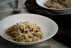Brown and Wild Rice Mushroom Risotto