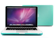 """nice Neway 3 in 1 bundle Matte Surface Crystal Rubberized Hard Shell Case cover protector for Apple Macbook Pro 13.3"""" with Retina Display Model: A1425 and A1502 (NEWEST VERSION 2013)& Keyboard Cover & LCD HD Screen protector,13.3"""" Retina,tiffany blue(bundle)"""