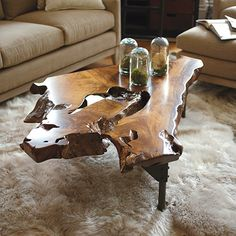 Coffee Table Ideas In The Living Room That Enhance Beauty - baumstamm/möbel - Wood Coffee Table Tree Stump Furniture, Tree Stump Table, Live Edge Furniture, Log Furniture, Furniture Ideas, Diy Coffee Table, Natural Wood Coffee Table, Driftwood Coffee Table, Into The Woods