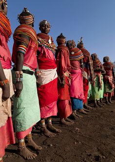 Rendille women with beaded headresses and necklaces - Kenya by Eric Lafforgue, via Flickr