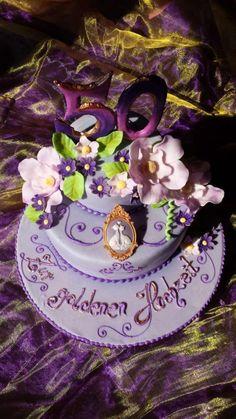 Traumhaft schön und super - eine #Torte für die goldene #Hochzeit aus dem #Café Held am #Tegernsee