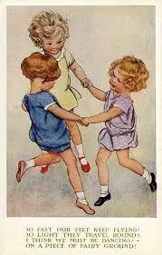 Znalezione obrazy dla zapytania dancing little girl vintage