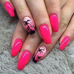 tb to augustttt / my beloved naturals!!! #palmnails#palmtreenails#pinknails#neonpinknails#handpainted#handpaintednailart#handmadenailart#nail#nails#nailart#nailporn#naildesign#manicure#mani#nailpolish#nails2inspire#nailstagram#instanails#nailswag#claws#glamnails#nailsofistagram#notd#gelpolish#hybridnails