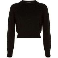Helmut Lang Cropped Cashmere Sweater (4.895 NOK) ❤ liked on Polyvore featuring tops, sweaters, shirts, crop tops, helmut lang sweater, cuff shirts, pure cashmere sweaters and cropped cashmere sweater