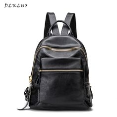 4d016aece1 2017 New Korean Fashion Leisure Travel Backpack Genuine Leather Women  Backpack High Quality Famous Brand Preppy