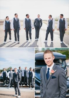 blue groomsman ideas http://www.weddingchicks.com/2013/10/03/pink-and-gold-wedding-3/