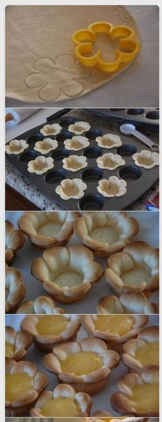 Use a cookie cutter to create shaped bowls for tarts