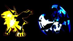 Pokémon Ultra Sun and Ultra Moon. The new forms of Solgaleo and Lunala.